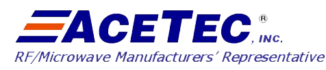 ACETEC | Southern California RF Microwave Manufacturers Rep | Product Line